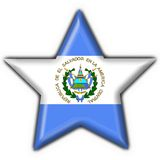 El salvador button flag star shape Royalty Free Stock Image