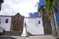 El Salvador church at La Palma Stock Photos
