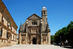 El Salvador Church, Ubeda, Spain. Stock Photography