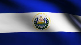 El Salvador country flag stock footage
