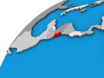 El Salvador on 3D globe. 3D illustration vector illustration
