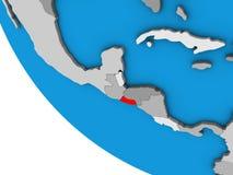El Salvador on 3D globe. El Salvador on simple 3D globe. 3D illustration stock illustration