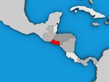 El Salvador on 3D map. El Salvador on blue political 3D globe. 3D illustration vector illustration