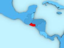 El Salvador on 3D map Royalty Free Stock Photos