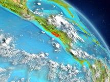 El Salvador dall'orbita Fotografia Stock