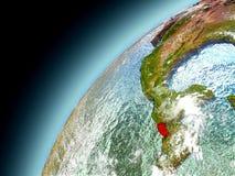El Salvador de la órbita de Earth modelo Imagen de archivo libre de regalías