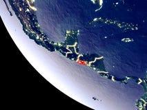 El Salvador do espaço na terra foto de stock royalty free