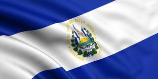 el Salvador flagę Zdjęcia Stock