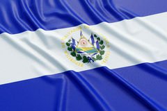 EL Salvador Flag Fotografia de Stock Royalty Free