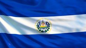 EL Salvador Flag Bandeira de ondulação da ilustração de El Salvador 3d ilustração stock