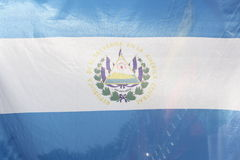 El Salvador flag Stock Photography