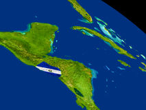 El Salvador with flag on Earth Stock Image