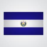 El Salvador flag on a gray background. Vector illustration Stock Image