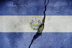 El Salvador FLAG PAINTED ON CRACKED WALL cool. El Salvador FLAG PAINTED ON CRACKED WALL royalty free stock image