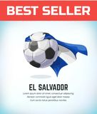 El Salvador fotboll- eller fotbollboll Fotbolllandslag ocks? vektor f?r coreldrawillustration stock illustrationer