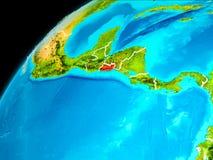 El Salvador från utrymme Arkivbild