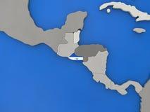 El Salvador on globe Royalty Free Stock Photos