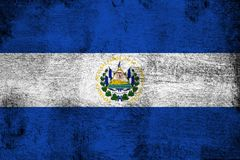 El salvador. Grunge and dirty flag illustration. Perfect for background or texture purposes royalty free illustration