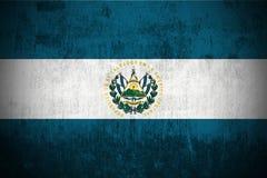 el Salvador grunge flagę Zdjęcie Royalty Free