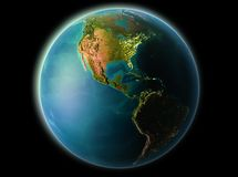 El Salvador i aftonen Royaltyfri Bild