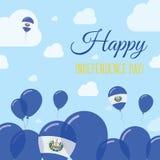 El Salvador Independence Day Flat Patriotic. Royalty Free Stock Image