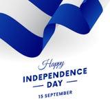 El Salvador Independence Day. 15 September. Waving flag. Vector. El Salvador Independence Day. 15 September. Waving flag. Vector illustration Stock Photography