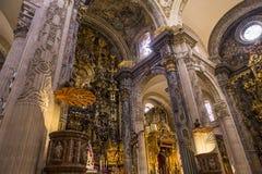 El Salvador kyrktar, Seville, Andalusia, Spanien Royaltyfria Foton