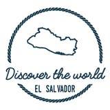 EL Salvador Map Outline Le vintage découvrent Images stock