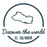 EL Salvador Map Outline El vintage descubre libre illustration