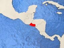 El Salvador on map Royalty Free Stock Photos