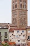 El Salvador. Mudejar art tower and buildings. Teruel. Spain heri Royalty Free Stock Image