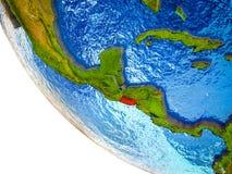El Salvador op 3D Aarde stock illustratie