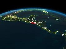 El Salvador på jord på natten Royaltyfria Bilder