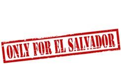 Only for El Salvador. Rubber stamp with text only for El Salvador inside, illustration royalty free illustration