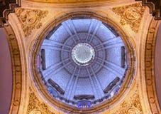 EL Salvador Seville Andalusia Spain d'église de dôme de basilique Photos libres de droits