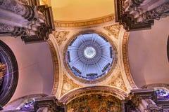 EL Salvador Seville Andalusia Spain d'église de dôme de basilique Image libre de droits