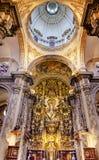 EL Salvador Seville Andalusia Spain della chiesa della cupola della basilica Fotografia Stock Libera da Diritti