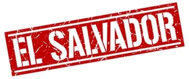 El Salvador stamp. El Salvador square grunge sign isolated on white. El Salvador royalty free illustration
