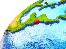 El Salvador su terra 3D illustrazione vettoriale
