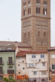 El Salvador Torre e construções Mudejar da arte Teruel Heri da Espanha imagem de stock royalty free
