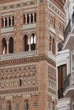 El Salvador Torre Mudejar da arte em Teruel Herança da Espanha foto de stock