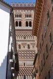 El Salvador Torre Mudejar da arte em Teruel Herança da Espanha fotos de stock royalty free