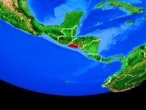 El Salvador van ruimte ter wereld royalty-vrije illustratie
