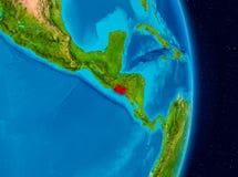 El Salvador vom Raum Lizenzfreies Stockfoto