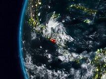 El Salvador vom Raum während der Nacht lizenzfreie abbildung