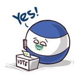 El salvador voting yes. Countryballs logo vector illustration