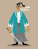 El samurai pasado Imagenes de archivo