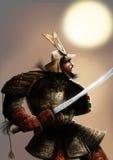 El samurai y el sol Fotos de archivo
