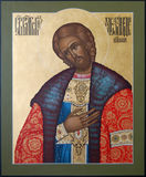 El santo cristiano Alexander Nevsky Prince Fotografía de archivo libre de regalías