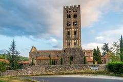 El santo Michel de Cuxa Abbey en Codalet Imagenes de archivo
